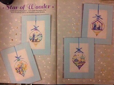 (X3) Nativity Scene Baubles Cards Christmas Cross Stitch Chart
