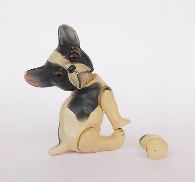 Rare Antique Juno Germany French Bulldog Celluloid Toy