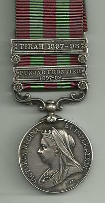 1895 India Medal 2 clasps Pte Walker Royal West Surrey Regt with papers