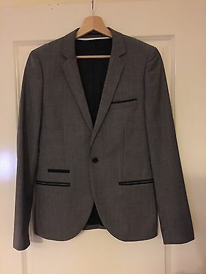 Topman Grey Slim Fit Suit Formal Jacket and Trousers