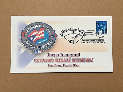 Ivan Rodriguez Puerto Rico Baseball Opening Day 2001 Texas Rangers Event Cover