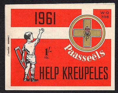 South Africa1961 Help Crippled Children Easter Stamps 1/-  booklet complete mint