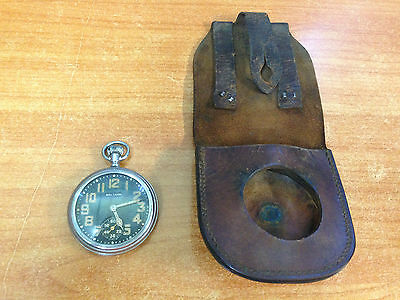 Vintage WW2 Era Military Army Pocket Watch in Working Condition