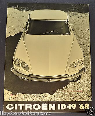 1968 Citroen ID-19 Sales Brochure Folder US Market Excellent Original 68