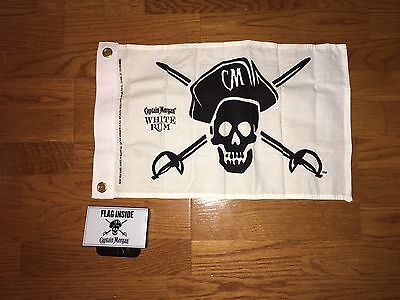 2015 Captain Morgan White Rum Mini Flag 1' x 2' BAR PROMO BRAND NEW Man cave