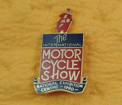 """Vintage International Motorcycle Show NEC 1990 Badge """"Mint Condition Very Rare"""""""