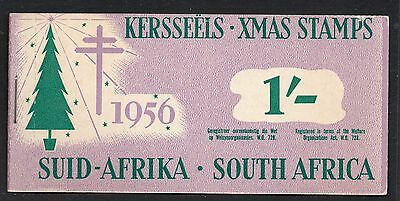 South Africa 1956 Christmas Anti - TB Seals 1/-  booklet complete mint