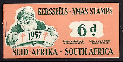 South Africa 1957 Christmas Anti - TB Seals 6d  booklet complete mint