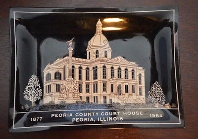 Dish- Peoria County Courthouse from 1964- IL, ILL, Illinois