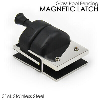 Magnetic Latch for Frameless Glass Pool Fencing - Self Locking Glass Clamp