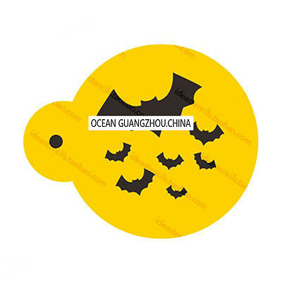 2 Pcs Packed Many Bats Cookie Cake Stencil Decorate Mould Fondant Biscuit Tool