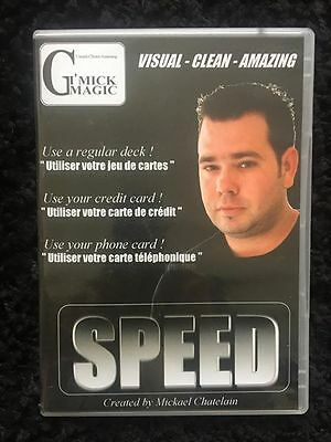 Speed Mickael Chatelain GimickMagic Tour de Magie Magic Trick comme neuf!