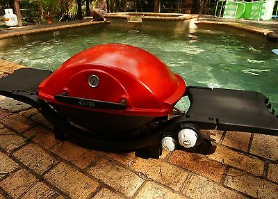 Weber Family Q BBQ - Natural Gas - in Unique Bright RED!