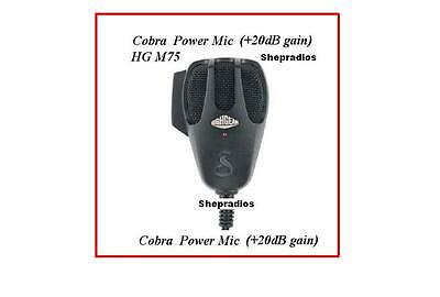COBRA HGM75 POWER MICROPHONE WITH +20 dB GAIN OVER STOCK HG M 75