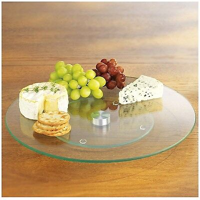 Tempered Glass Lazy Susan Pastry Cake Rotating Stand