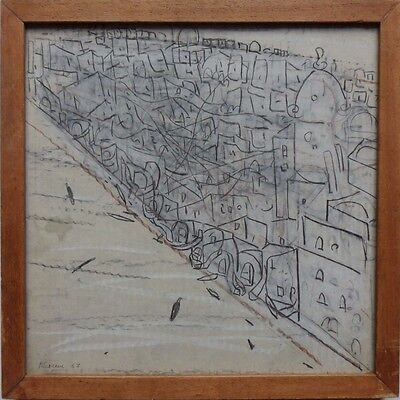 Pierre Lesieur 1922-2011 Original Signed Drawing Dated 1967 With Provenance