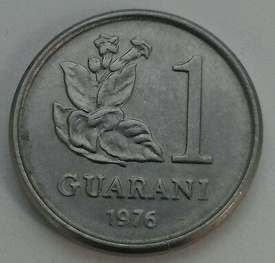 Paraguay 1 Guarani 1976. KM#151. Tobacco Plant. Stainless Steel. One Dollar coin