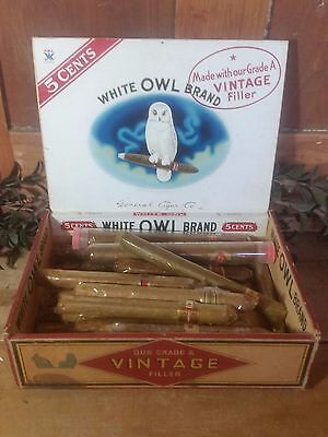 Vintage lot of Cigar Bands / Rings in Antique White Owl - Blue Collar Cigar Box