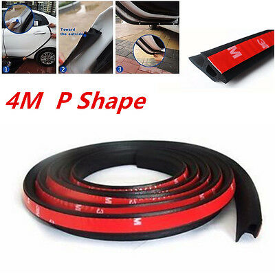 4M P-Type Car Door Sealing Truck Motor Van Rubber Door Seal Strip Weather Strip