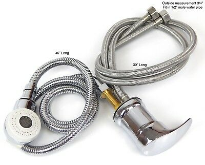 Faucet and Spray Hose for Beauty Salon Shampoo Bowl Parts Kit (White Head)
