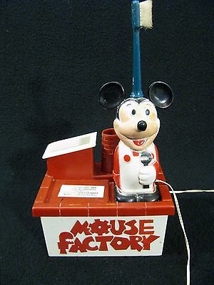 Vintage Mickey Mouse Toothbrush Factory Kenner Walt Disney Production from 1972