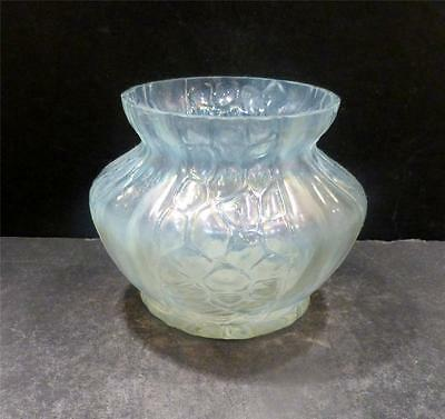 Bohemian, Czech, Kralik Vase With Honeycomb Panel Pattern