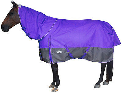 CARIBU Polar Fleece Lined 1200D Turnout Combo Horse Rug with Detachable Neck