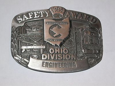 Chessie System Pewter Belt Buckle From 1984