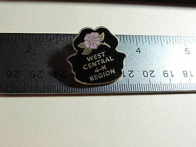 West Central 4-H Region Wild Rose  Lapel Hat Pin 9A