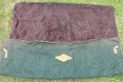 RARE ANTIQUE 1890's S&H BORBRIDGE BUFFALO ROBE CARRIAGE BUGGY SLEIGH BLANKET