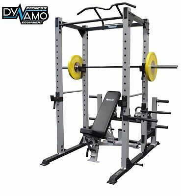 Power Rack Squat Cage Spotters Pull Up Bar Heavy Duty Rated to 400kg Home Gym