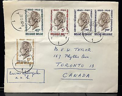 Belgium Cover 1960 to Canada . Tied by Gent Cxl..