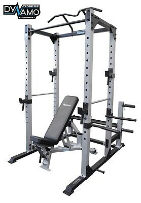 Power Rack Squat Cage FID Bench Pull Up Bar Heavy Duty Rated to 400kg Home Gym