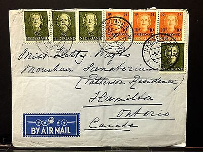 Netherland Airmail Cover 1921 to Canada .
