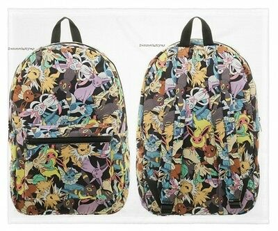 ec2f3852a418 POKEMON EEVEE EVOLUTION All Over Toss Sublimated Print Backpack New ...