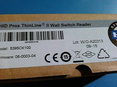 HID Reader Black Thinline 5395CK100 Wall Switch