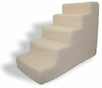 Best Pet Supplies Foam Pet Stairs Steps White 5 Step Dog Cat Animal Ramp NEW
