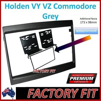 -Fascia Double DIN Stereo Facia Dash Kit Grey 2 DIN For Holden Commodore VY VZ