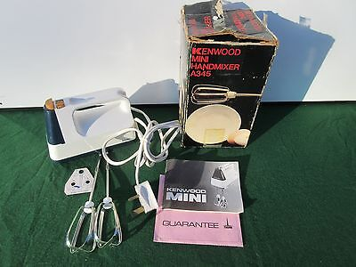 Kenwood A365 Mini Vintage Electric Hand Beater Whisk 3-Sp Boxed Excellent Mixer