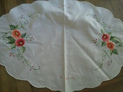 Stunning flower embroided doiey
