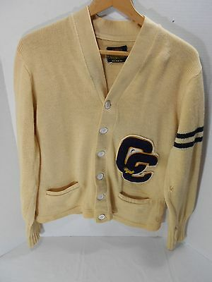 Vintage Cedar Cliff High School Sweater Cardigan Athletic Letter Harrisburgh PA