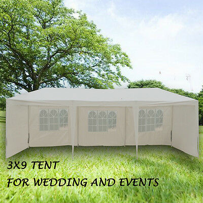 Sale OUTT 3x9M GAZEBO PARTY WEDDING TENT EVENT MARQUEE OUTDOOR PAVILION White