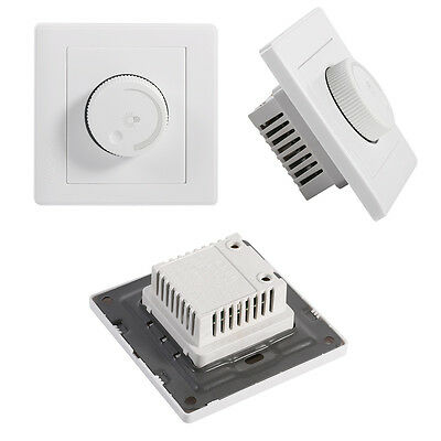 1 Gang 1 way Rotary Wall Dimmer Control for lamps LED Light Switch 220V Panel AM