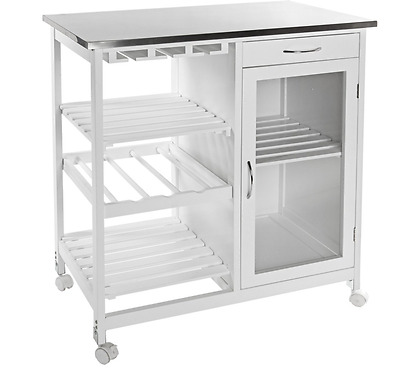 Stainless Steel Kitchen Island Table Top Storage Cabinet Trolley Bench Cart