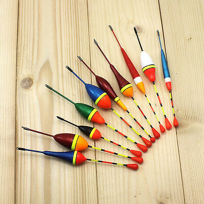 10pcs/lot Long Tail Fishing Floats Set Mix Size 4.5g 3.0g 2.5g 1.2g 0.8g 0.6g