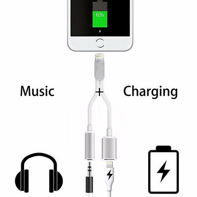 2 in 1 Splitter to 3.5mm Headphone Jack Adapter Cable For iPhone 7 6S Fashion