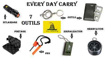 Kit Every Day Carry 7 outils EDC Kit N°2