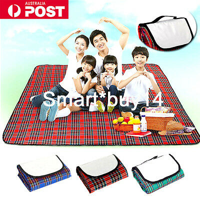 AU Floldable Picnic Rug Mat Portable Camping Blanket Play Mat Outdoor Waterproof