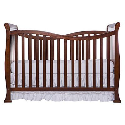 Dream On Me Violet 7 in 1 Convertible Life Style Crib, Espresso New