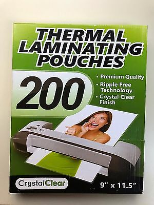 """NEW in Box 200 Universal Thermal Laminating Pouches 3 Mil 9"""" x 11.5"""""""